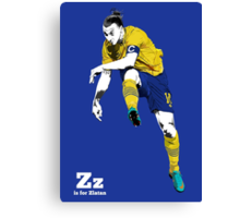 Z is for Zlatan Canvas Print
