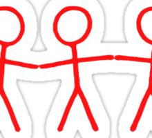 #WalkInRed People Chain Sticker