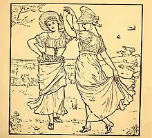 Walter Crane's Painting Book 1889 9 - Dance Lines by wetdryvac
