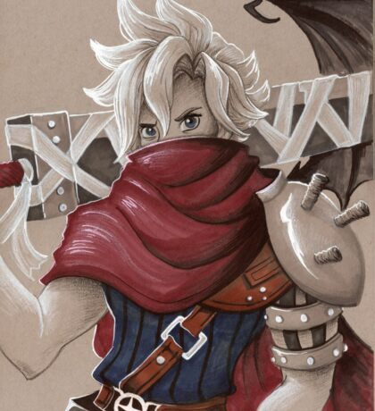 Toned Paper Cloud Strife Sticker
