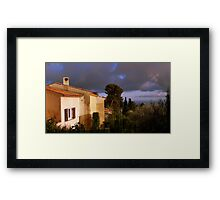 A thunderstorm is brewing Framed Print