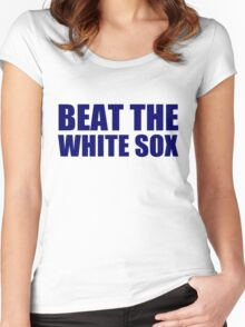 Detroit Tigers -- BEAT THE WHITE SOX Women's Fitted Scoop T-Shirt