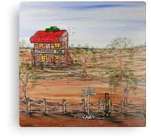 """""""Ned Kelly at the Ettamogha Pub"""" Original Sold  Canvas Print"""