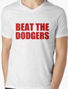 Los Angels Angels - BEAT THE DODGERS Mens V-Neck T-Shirt