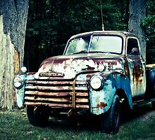 Patriotic Classic Chevy Truck  by AlphaEyePhoto