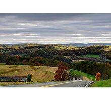Country View From Rose Valley Road Photographic Print