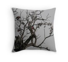 Raining Galahs.. Throw Pillow