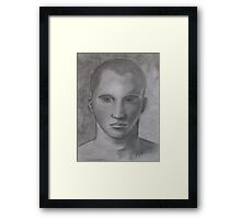 Male Model Framed Print