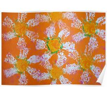 April Daisies on Orange by Holly Cannell Poster