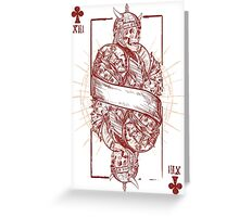 Juvet of Clubs Greeting Card