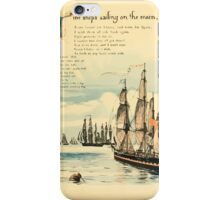 The Buckle My Shoe Picture Book by Walter Crane 1910 53 - Nine Ships Sailing on te Main iPhone Case/Skin