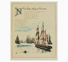 The Buckle My Shoe Picture Book by Walter Crane 1910 53 - Nine Ships Sailing on te Main One Piece - Short Sleeve