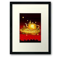 Teapot city Framed Print