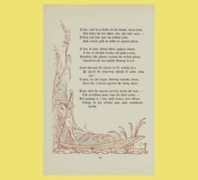 The Old Garden and Other Verses by Margaret Deland and Wade Campbell, Illustrated by Walter Crane 1894 108 - A Line Still Base Holds All The Brown Warm Land Kids Tee