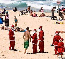 Don't mess with Santa (all of them) by Alexander Meysztowicz-Howen