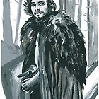 Jon Snow Painting Beyond The Wall by drknice