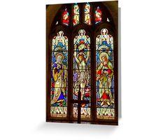 Window-All Saints Church-Hawnby Greeting Card