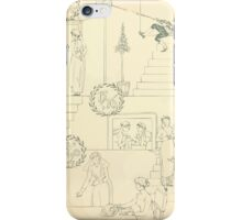 The Buckle My Shoe Picture Book by Walter Crane 1910 13 - Eleven Through Twenty Inner Cover iPhone Case/Skin