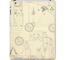The Buckle My Shoe Picture Book by Walter Crane 1910 13 - Eleven Through Twenty Inner Cover iPad Case/Skin