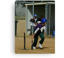 Saturday morning Softball Canvas Print
