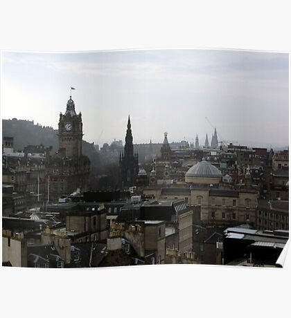 Edinburgh's rooftops - A view from Calton Hill Poster