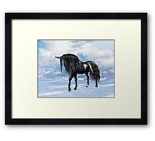 Black Unicorn Framed Print