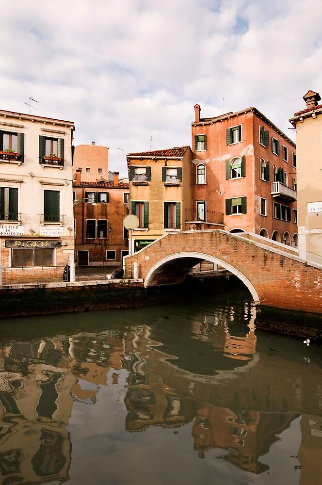 Houses and bridge in Venice by Vegard Giskehaug