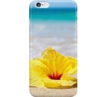 Yellow Sunshine Hibiscus Clutch iPhone Case/Skin