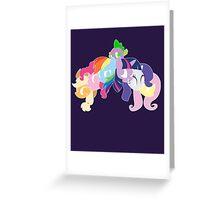 Mane Six & Spike Greeting Card