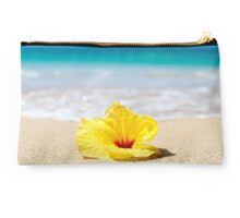 Yellow Sunshine Hibiscus Clutch Studio Pouch