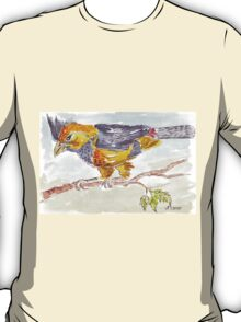 Crested Barbet in my garden T-Shirt