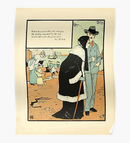 The Buckle My Shoe Picture Book by Walter Crane 1910 74 - When Thou Art Feeble Old and Gray Poster