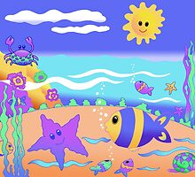 """Starfish & Crab"" by SianLorraine"