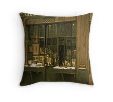 Homage to Eugene Atget - 'An Old Parisian Bookshop' Throw Pillow