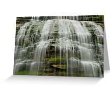 Montour Falls in New York close up Greeting Card