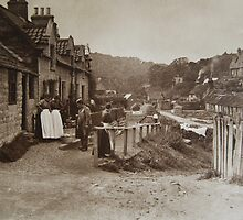 Sandsend Yorkshire, circa 1880. by Phil Mitchell