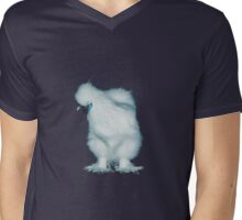 Feather Leg Silkie White Pullet Mens V-Neck T-Shirt