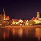 Wroclaw by Night by Kasia Nowak