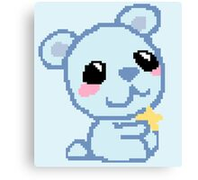 Pixel Bear Canvas Print
