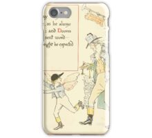 A Masque of Days - From the Last Essays of Elia 1901 illustrated by Walter Crane 19 - Pay Day, Dooms Day iPhone Case/Skin