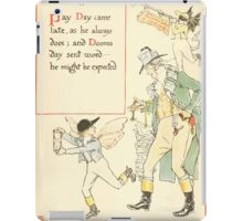 A Masque of Days - From the Last Essays of Elia 1901 illustrated by Walter Crane 19 - Pay Day, Dooms Day iPad Case/Skin