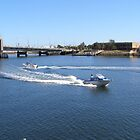 Sunny Day for Boating! Port Adelaide River. S. Aust by Rita Blom