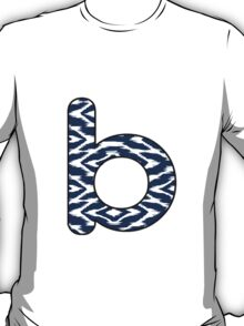 Letter Series - b (navy/white) T-Shirt