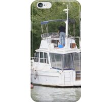 Preparing the boat for fishing. River Murray, Mannum. iPhone Case/Skin