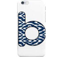 Letter Series - b (navy/white) iPhone Case/Skin