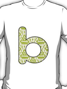 Letter Series - b (lime/cream) T-Shirt