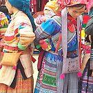 Hill tribe women at the market by Lyn Fabian
