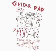 High Quality Vector Guitar Dad, Teaches You Guitar  by tehks