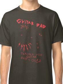 High Quality Vector Guitar Dad, Teaches You Guitar  Classic T-Shirt