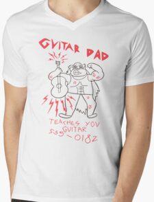 High Quality Vector Guitar Dad, Teaches You Guitar  Mens V-Neck T-Shirt